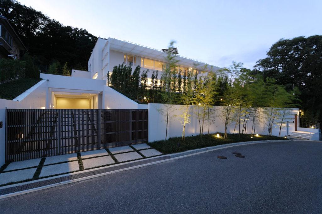六麓荘の住宅